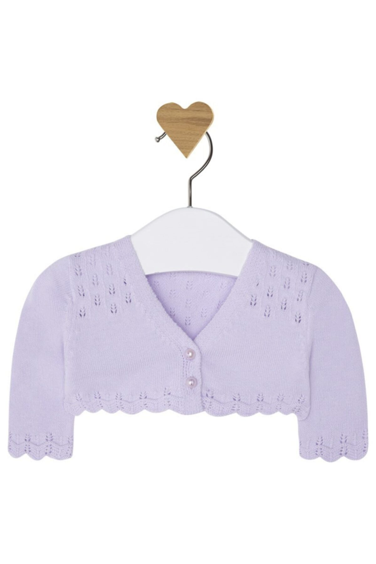 MAYORAL Kız Bebek Lila Örme Kısa Hırka Ceket 1306 1