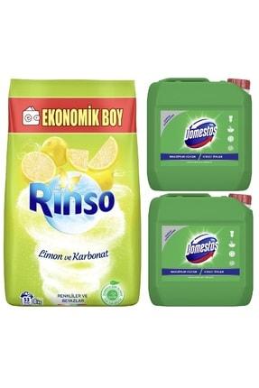 Rinso Renkliler Ve Beyazlar Için Toz Çamaşır Deterjanı 8kg + Domestos Çamaşır Suyu 2x3240ml