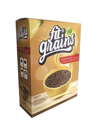 Fit Grains Kakaolu Pirinç Patlağı Şekersiz 300 Gr