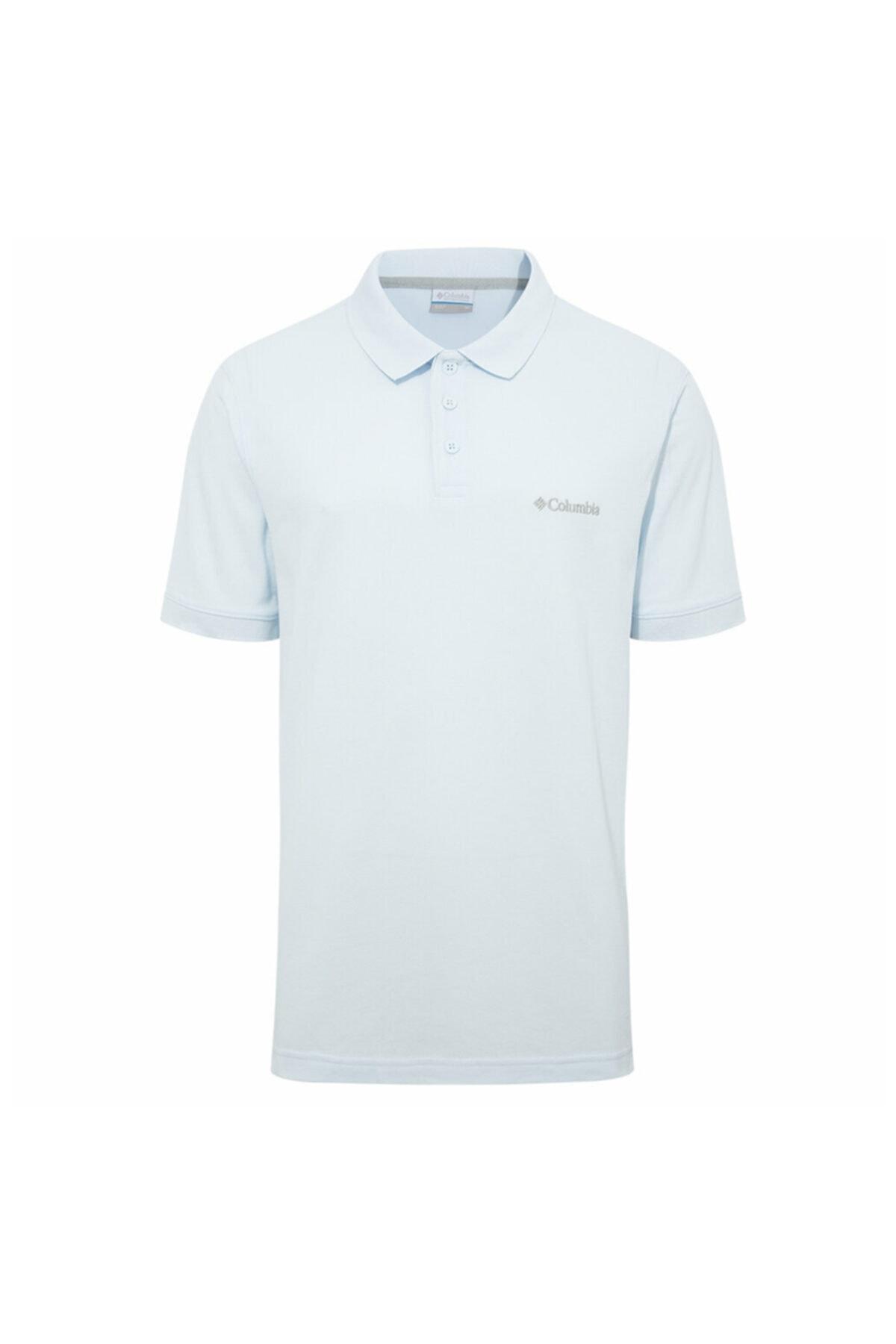Columbia Erkek Mavi Cascade Range Solid Polo Yaka T-shirt 1