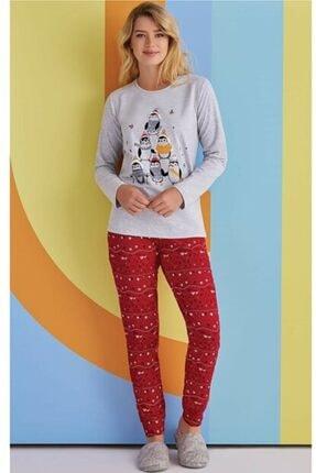 ROLY POLY Kadın Gri Baskılı Pijama Takımı