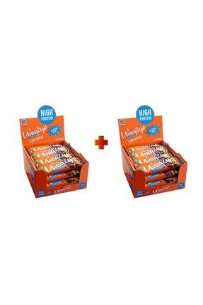 Uniq2Go Choco Light Midi 16lı Kutu 2x Kutu %100 Naturel Portakal Aromalı Proteinli Bar Kutu Içi Adet 40 G.