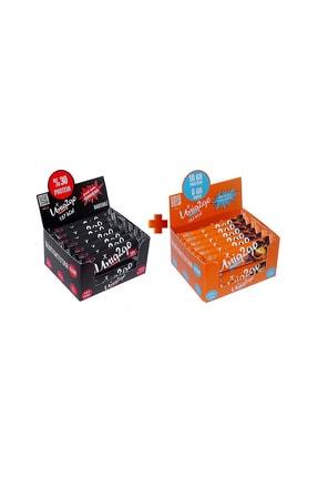 Uniq2Go Power Almond Bar 16'lı Kutu Yanında Choco Light 16'lı Kutu