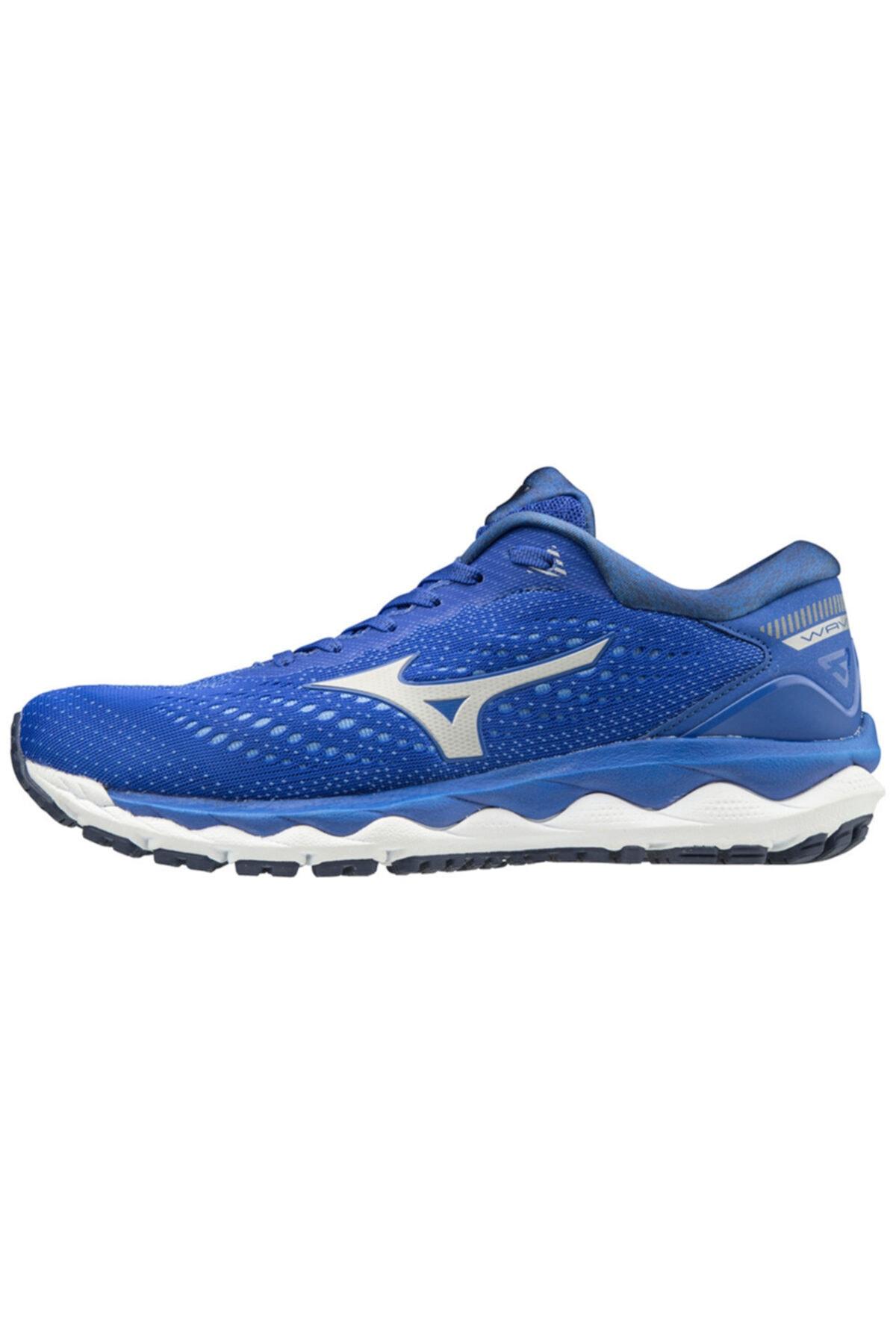 MIZUNO Kadın Mavi Wave Sky 3 Koşu Ayakkabısı 1