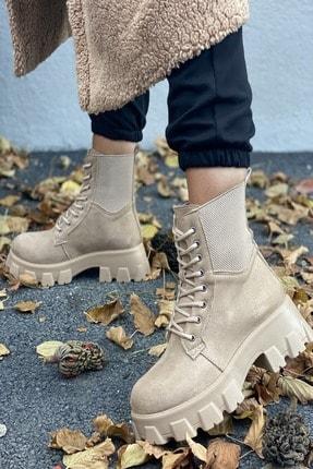 İnan Ayakkabı BAYAN NUDE SÜET BOT&BOOTİE&POSTAL KY8888