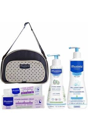 Mustela Saç Vücut Şampuanı 500 Ml+hydra Bebe 300 Ml+pişik Kremi 100 Ml+çanta