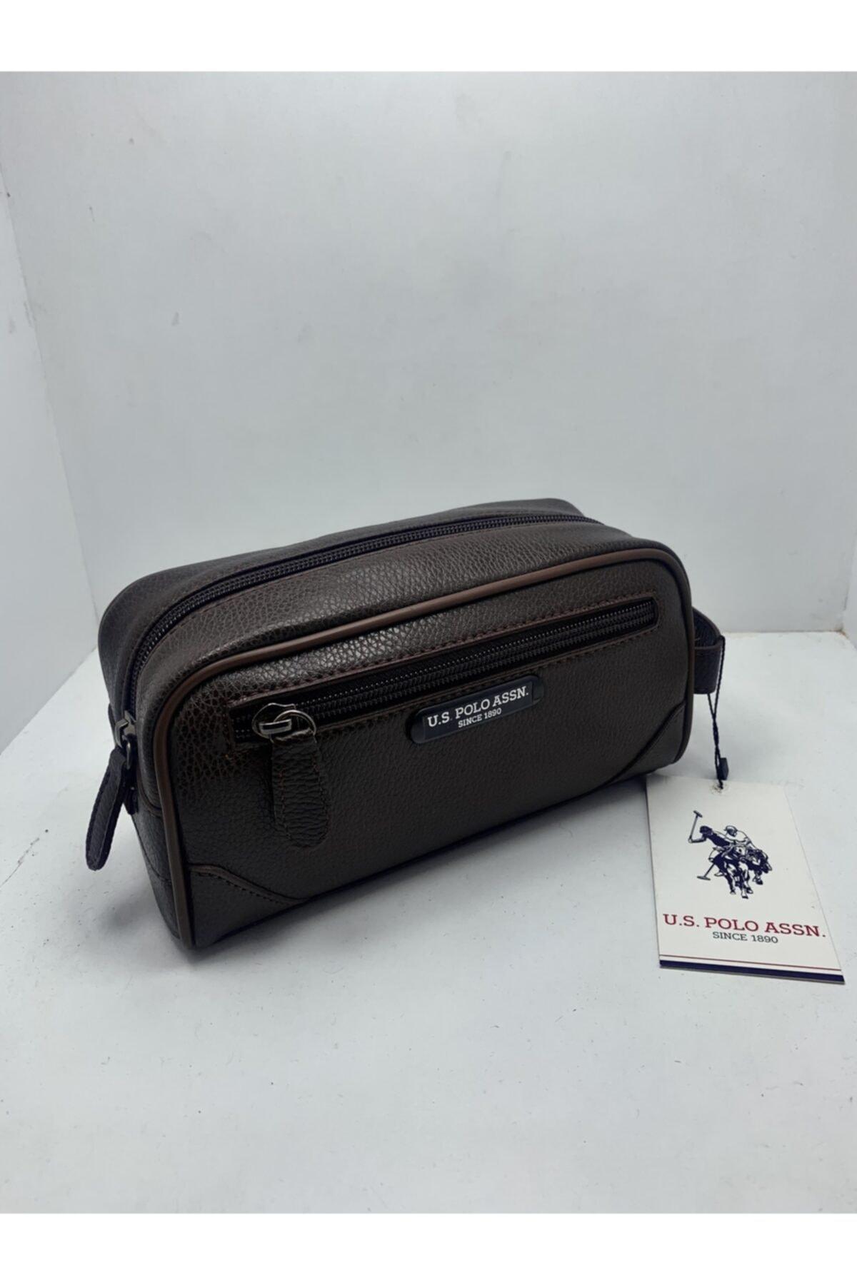 U.S. Polo Assn. Unisex Kahverengi El Çantası 2