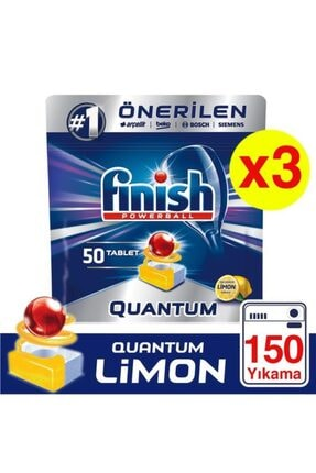 Finish Quantum 150 Tablet Bulaşık Makinesi Deterjanı Limon (50x3)