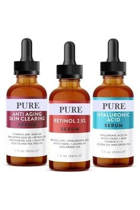 Pure 3'lü Serum -anti Aging-retinol-hyaluronic Asit Serum