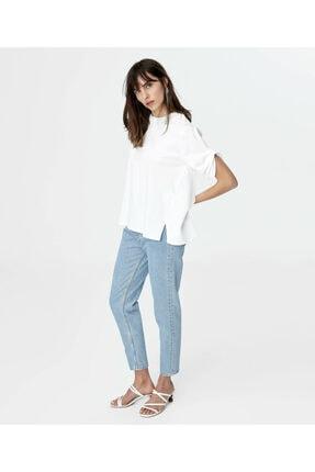 İpekyol Kadın Beyaz Kumaş Mixli Tshirt IS1200070242096