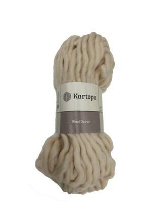Kartopu Wool Decor Ekru El Örgü Ipi - K1037