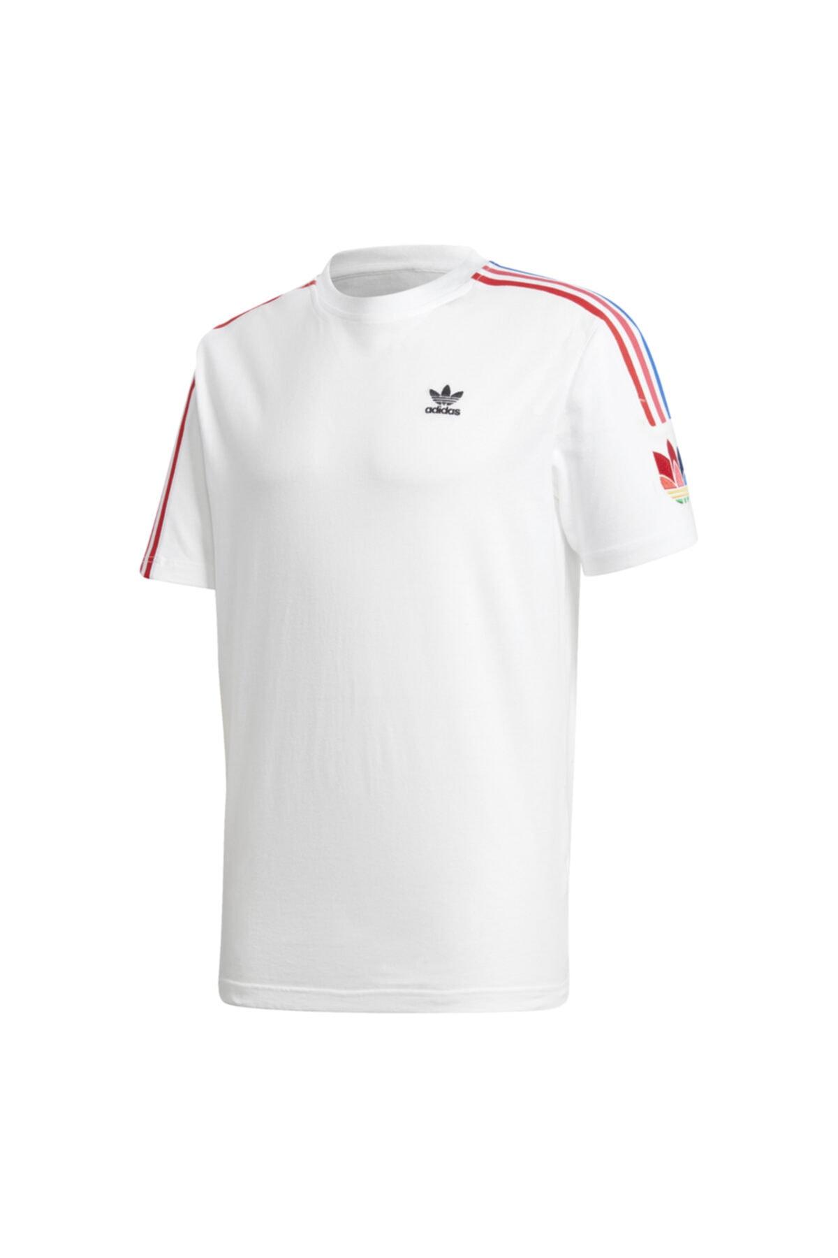 adidas Erkek Beyaz Spor T-Shirt 1