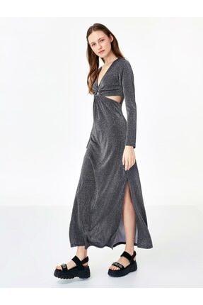 Twist Kadın Antrasit Cut Out Detaylı Elbise