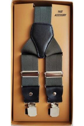 Yage Unısex Füme Renk Pantolon Askısı 3.5 cm