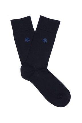 Mavi Lacivert Uzun Çorap