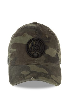 Mavi Mühür Logo Kamuflaj Şapka