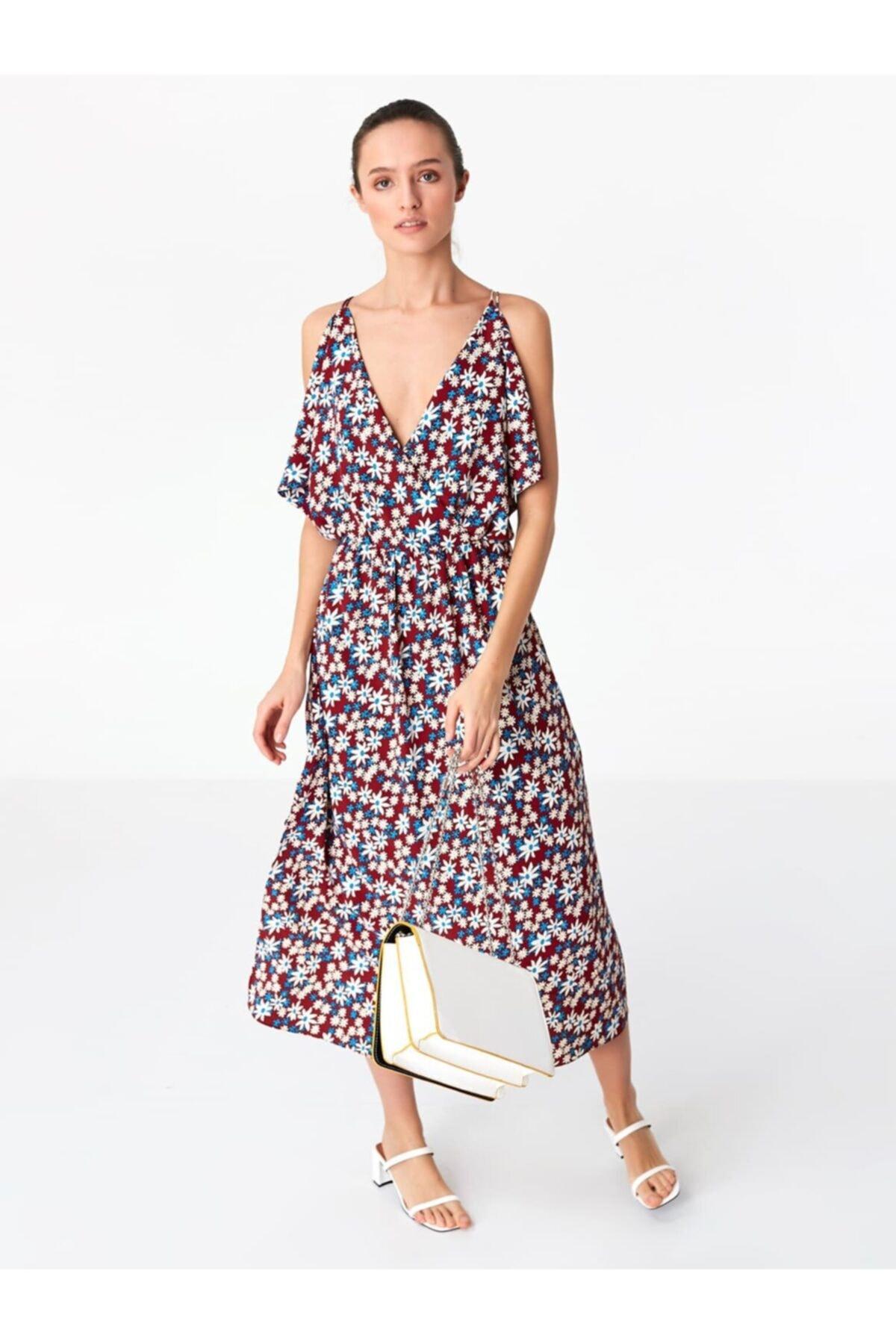 Twist Kadın Çiçek Desen Elbise 1