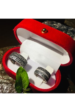 Gumush Unisex Gümüş Rodyumlu Çift Alyans