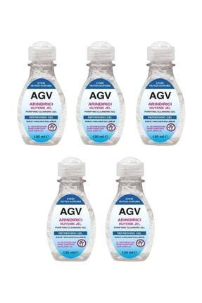 Agiva Antibakteriyel El Temizleyici Jel 120 ml 5 Adet