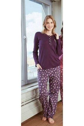 Feyza Pijama Kadın Mor Pijama Takımı  2139