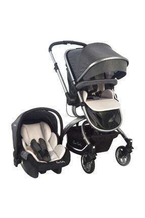 Pierre Cardin Gri Twist Plus Travel Sistem Bebek Arabası