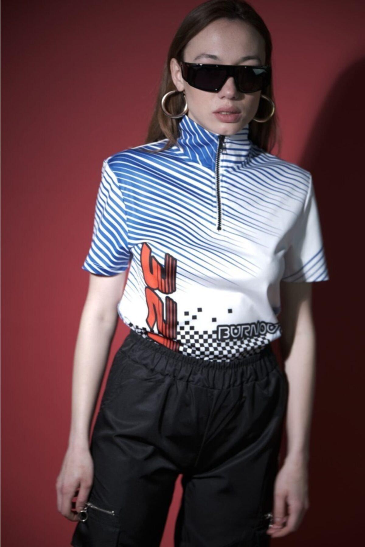 HOLEACADEMIE Kadın Beyaz  Spor T-Shirt 1