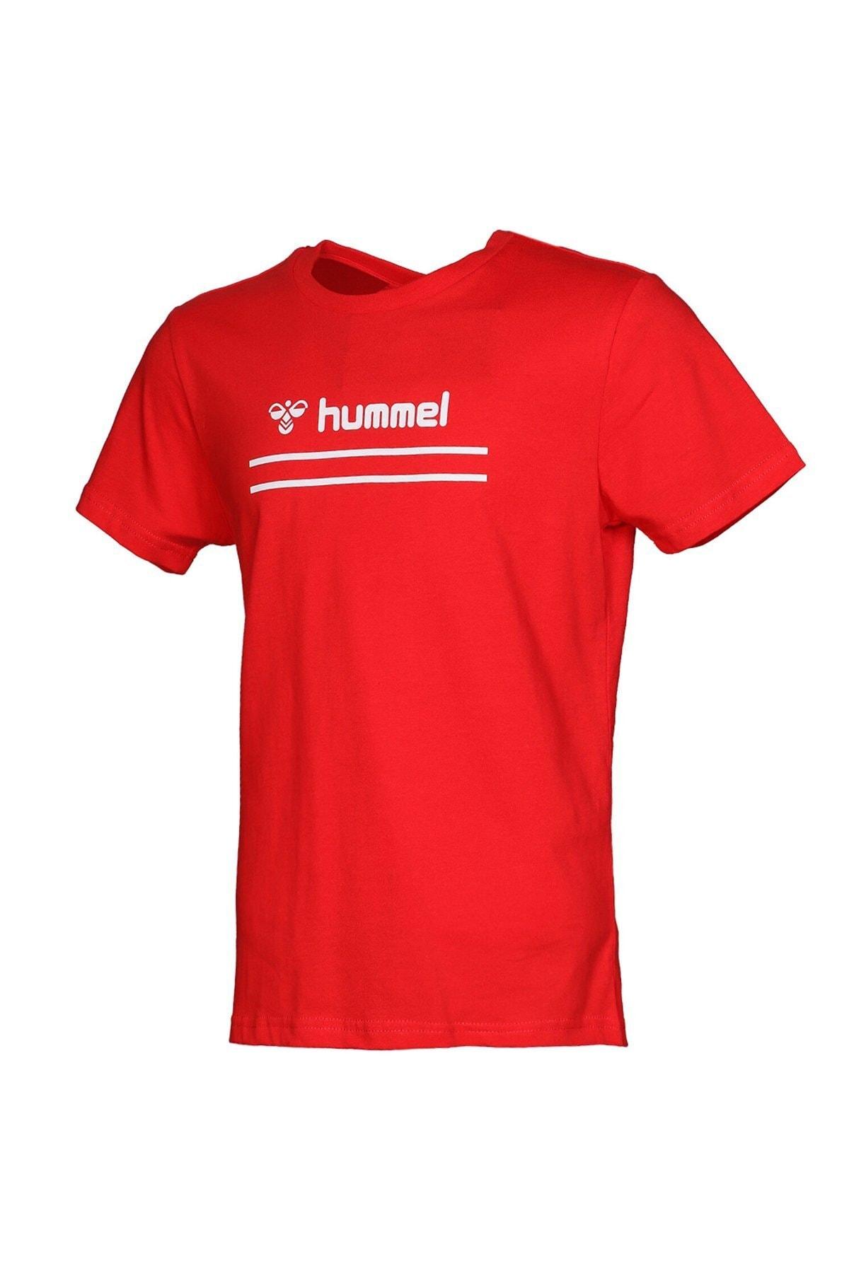 HUMMEL Kız Çocuk Kırmızı Kısa Kollu T-Shirt 1
