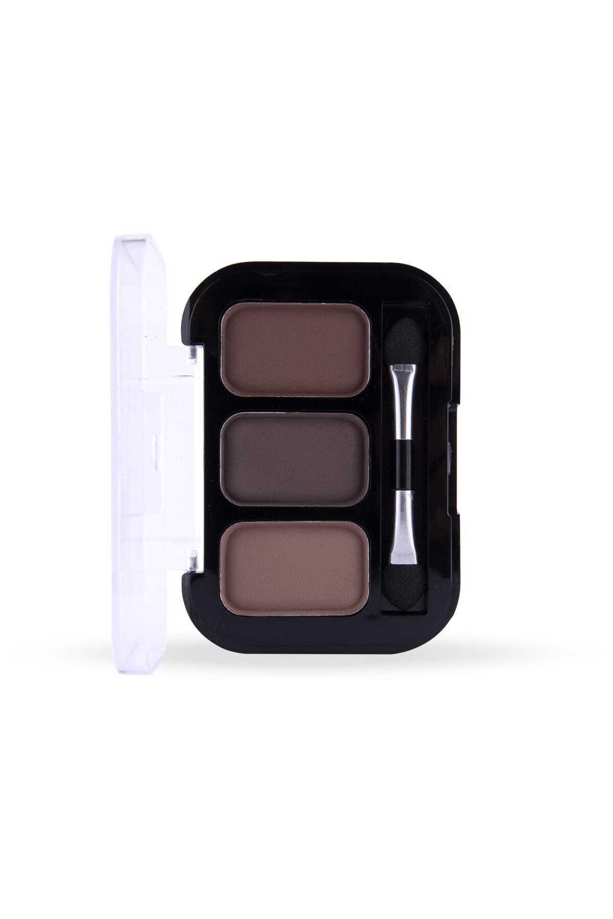 Cocosh She Eyebrow High-brow True Color 02 Medium 3'lü Kaş Farı -8681569700314 1