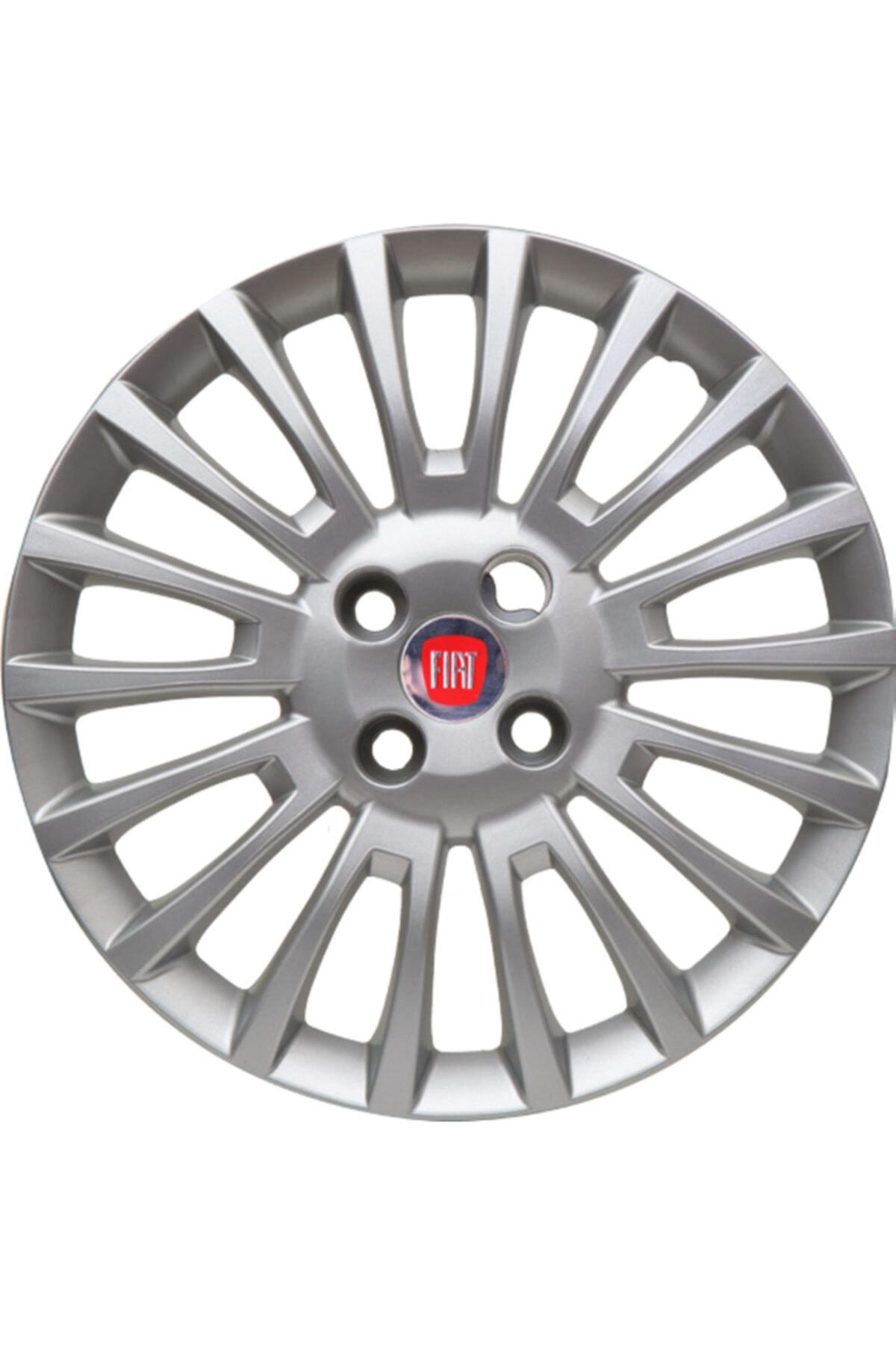 Fiat Linea (2007-2016) Jantest Fiat Linea 15 Inc Kırılmaz Esnek 4 Adet Jant Kapağı 1
