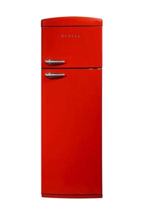 Vestel RETRO SC325 A+ Kırmızı Çift Kapılı Statik Buzdolabı