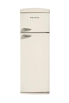Vestel RETRO SC325 A+ Bej Çift Kapılı Statik Buzdolabı