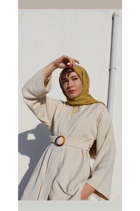 Sazze Design Kadın  Bej Keten Kimono