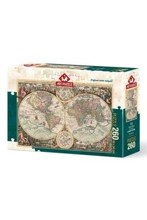 Art Puzzle Dünya Haritası 260 Parça Puzzle