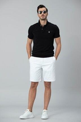 Lufian Erkek Siyah Laon Spor Polo T- Shirt