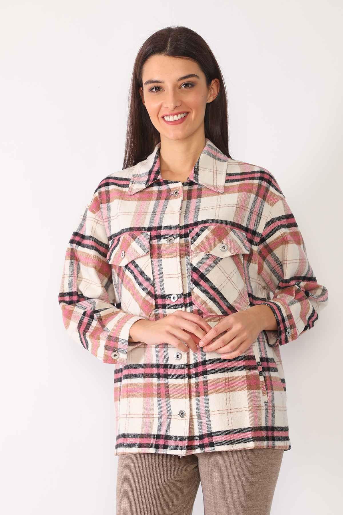 New Mission Kadın Kareli Oduncu Gömleği 1
