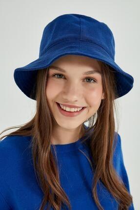 Y-London 13523 Kaşe Saks Bucket Şapka
