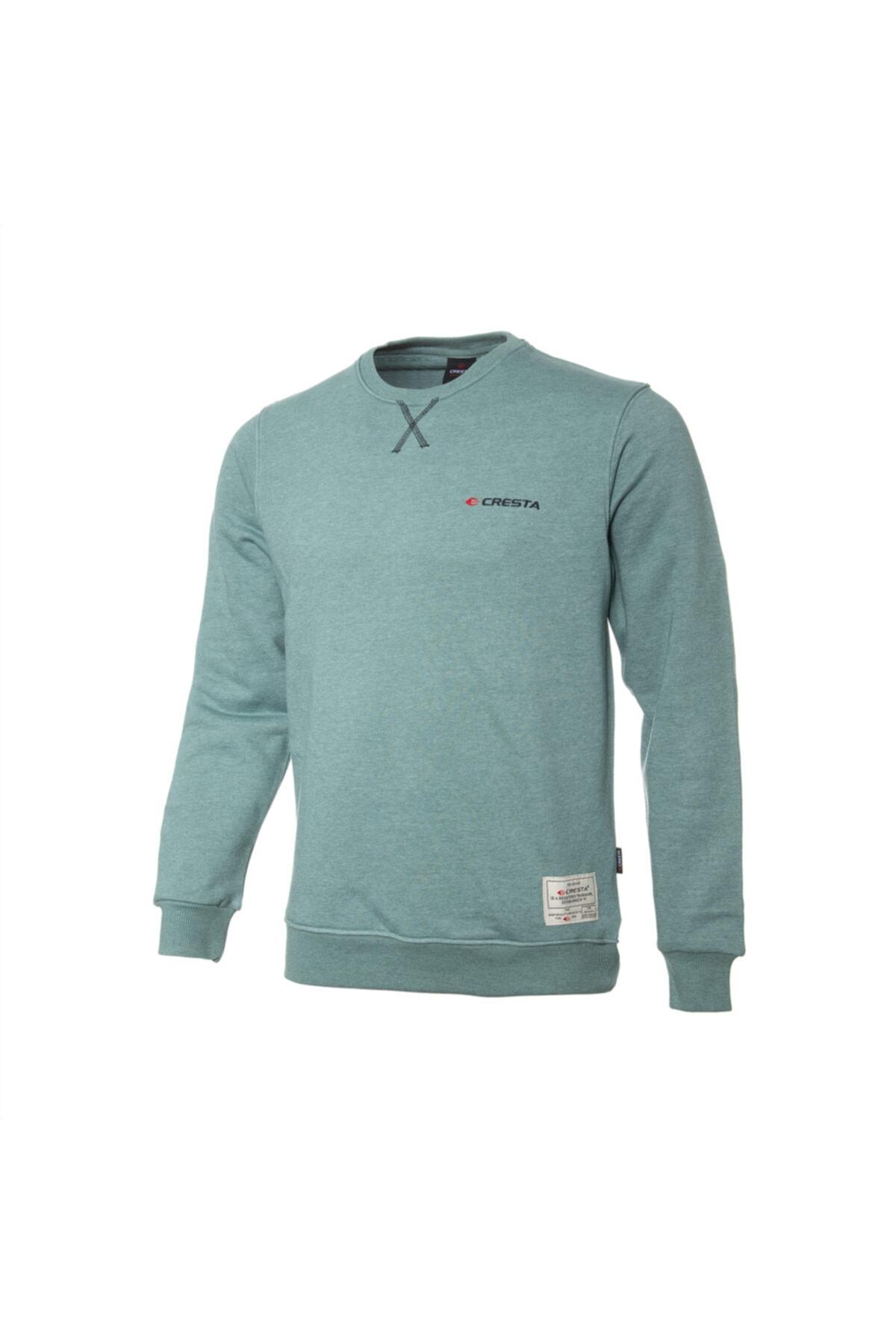 Cresta Erkek Yeşil Basic Outdoor Sweatshirt 1