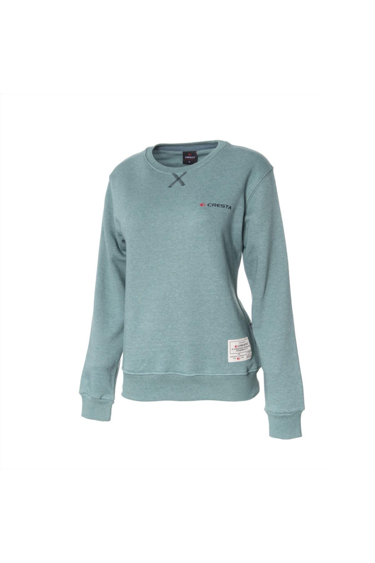 Cresta Kadın Yeşil Basic Outdoor Sweatshirt 1