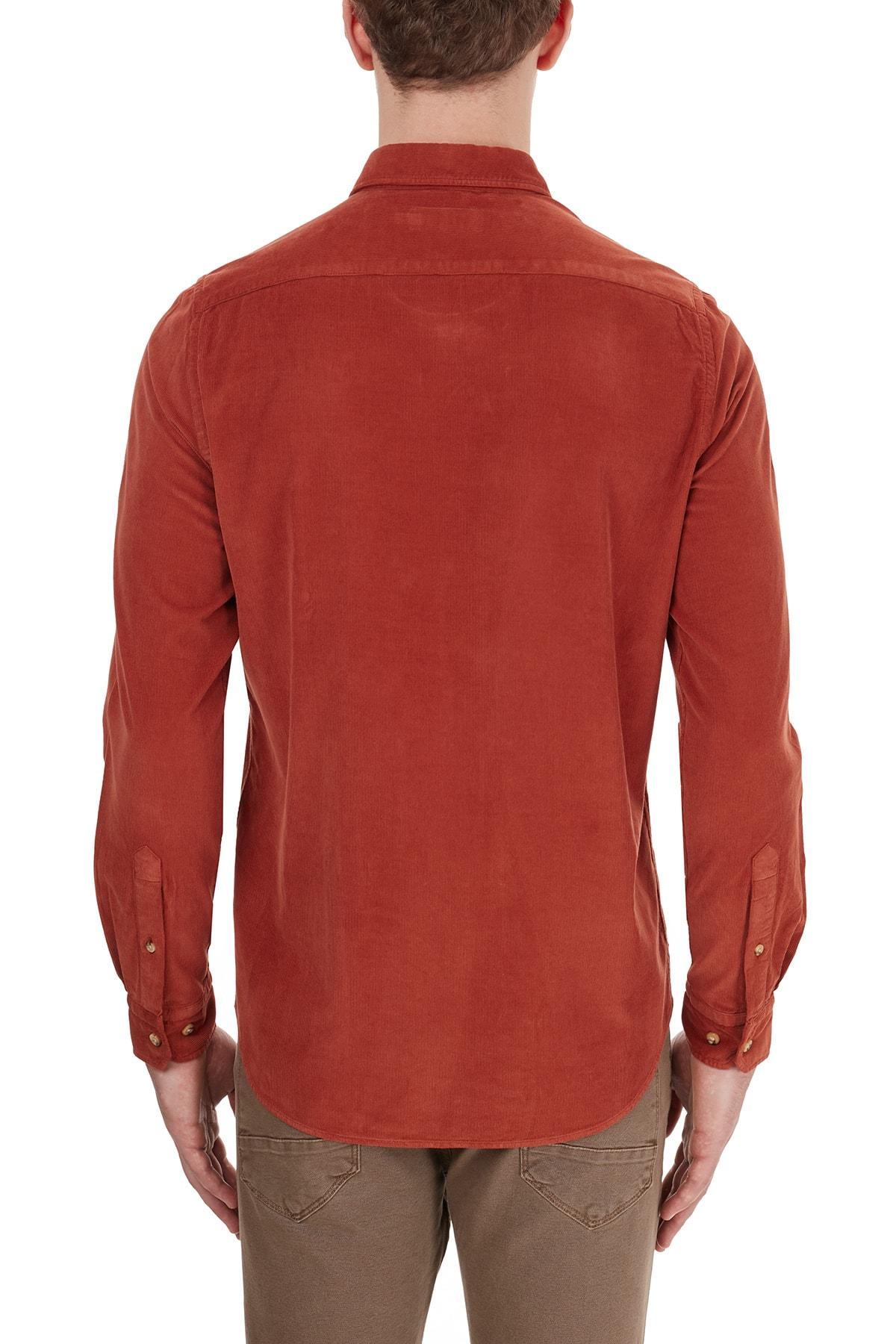 Ruck & Maul Düz Yaka % 100 Pamuk Gömlek Erkek Gömlek Ba1m0200071 21184 2