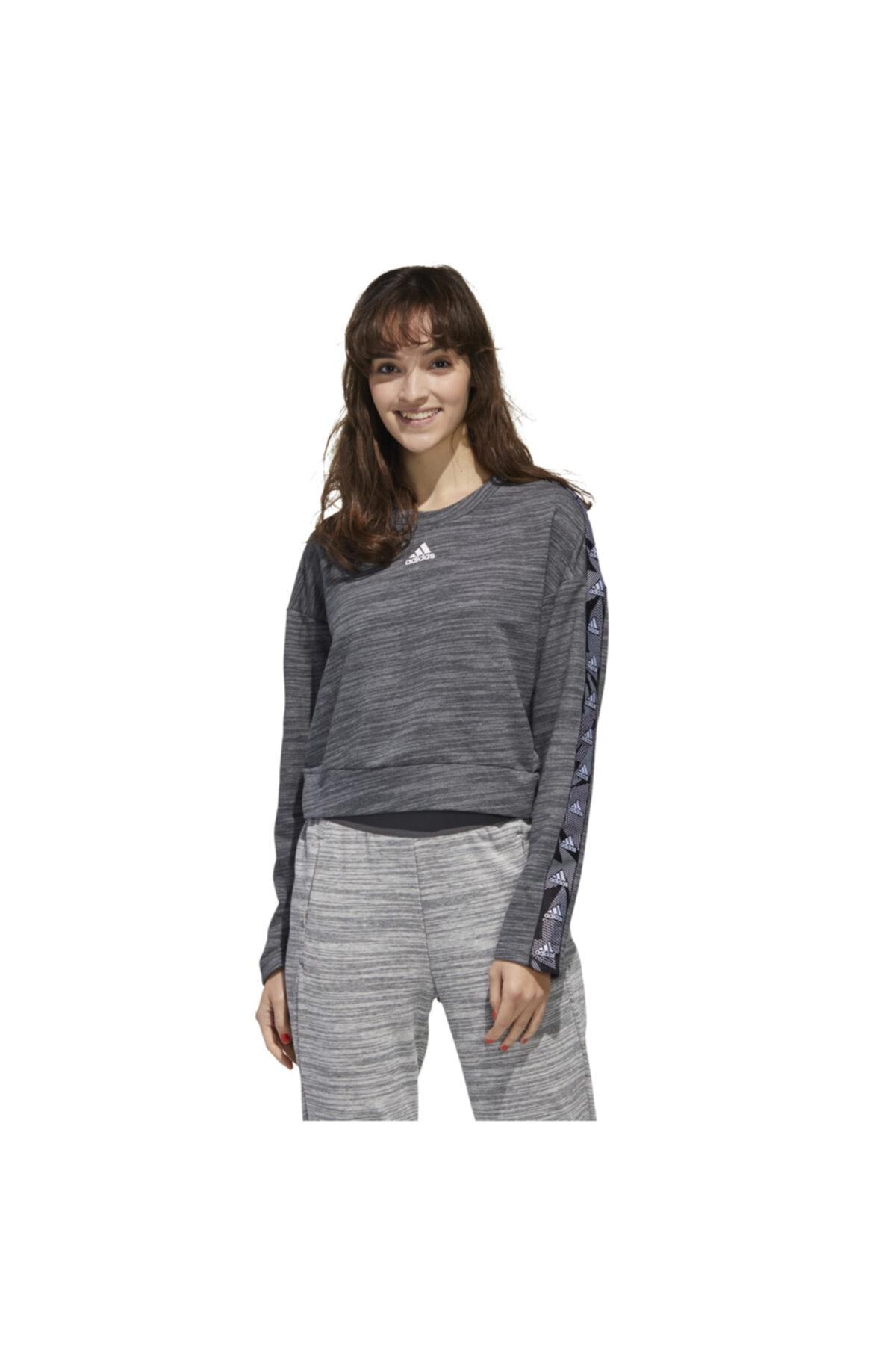 adidas Kadın Gri Essentials Tpe Sweatshirt 1