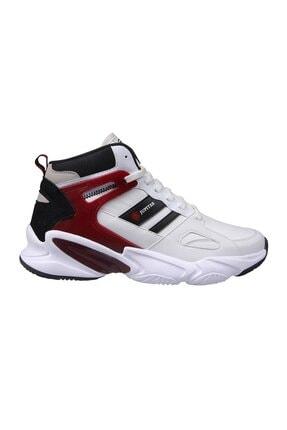 MP Unisex Beyaz Kırmızı Bilek Boy Basketbol Ayakkabı