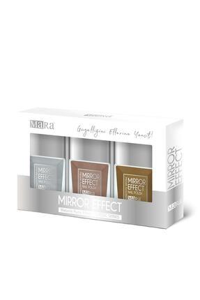 Mara Metalik Ayna Efektli Oje Klasik Seri Altın/bronz/gümüş