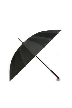 Rubenis 24 Telli Protokol Lüx Erkek Şemsiye Siyah