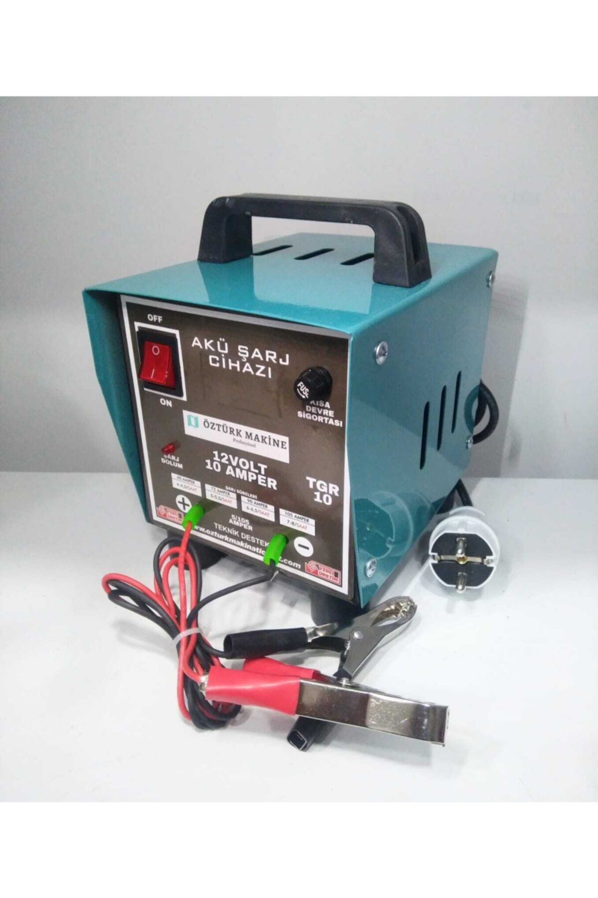 Öztürk Makine 12 V 10 Amper Akü Şarj Cihazı (1 Yıl Tam Garanti) 1