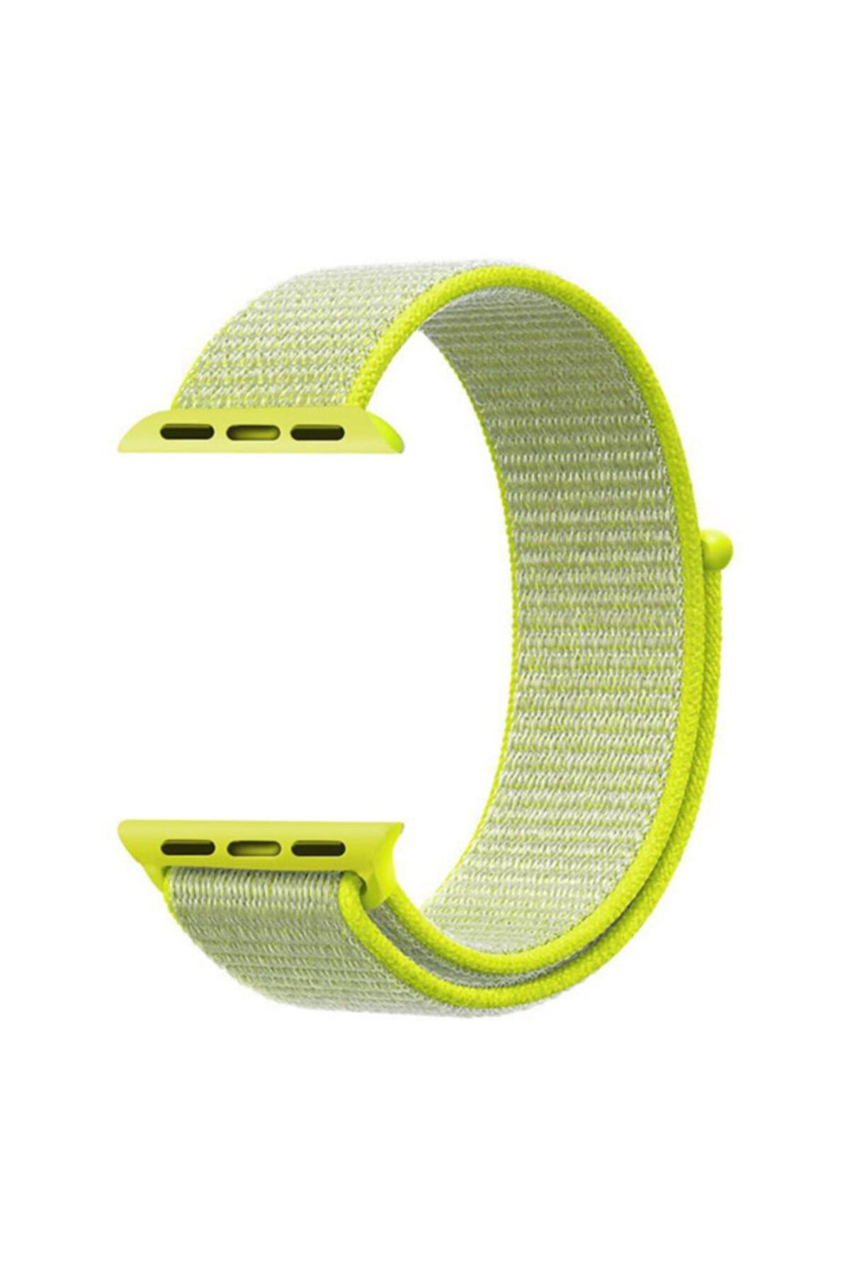 Microsonic Microsonic Watch Series 6 44mm Hasırlı Kordon Woven Sport Loop Sarı 2