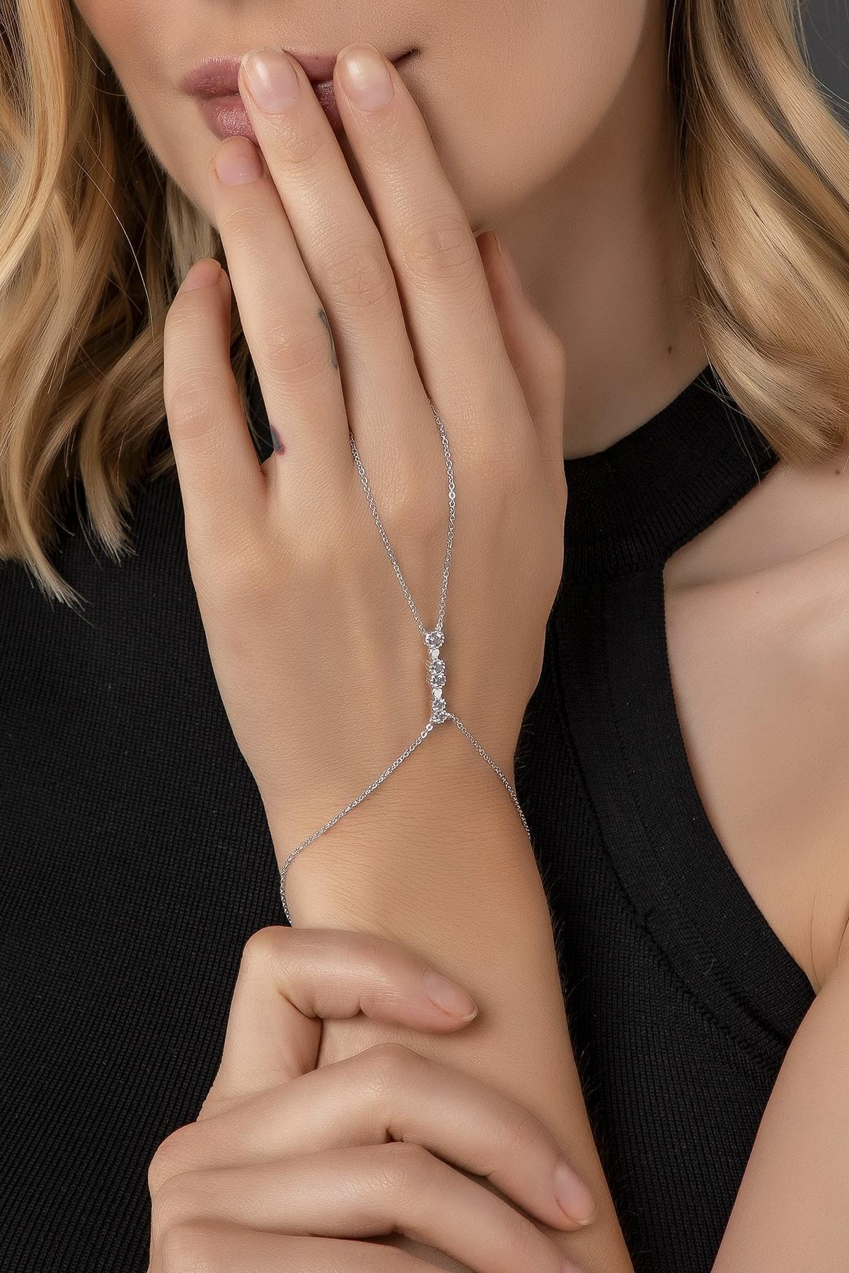 Modex Kadın Gümüş Zirkon Taşlı Şahmeran 1