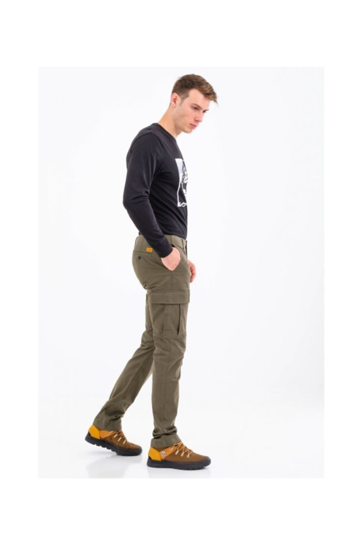Timberland Core Twill Cargo Erkek Pantolon Bej 1