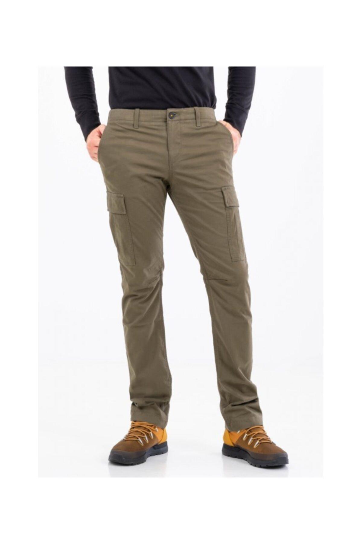 Timberland Core Twill Cargo Erkek Pantolon Bej 2
