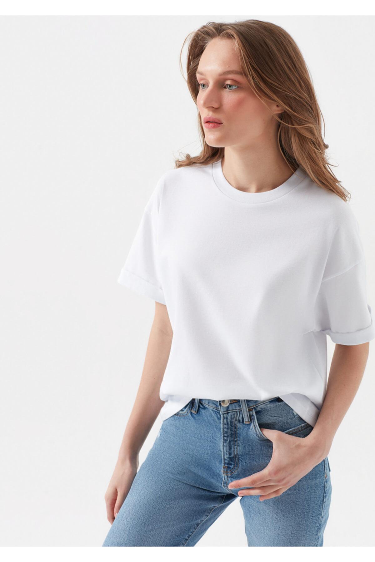 Mavi Beyaz Tişört 2