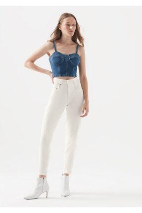 Mavi Kadın BIANCA ICON Kırık Beyaz Jean Pantolon 101276-32255